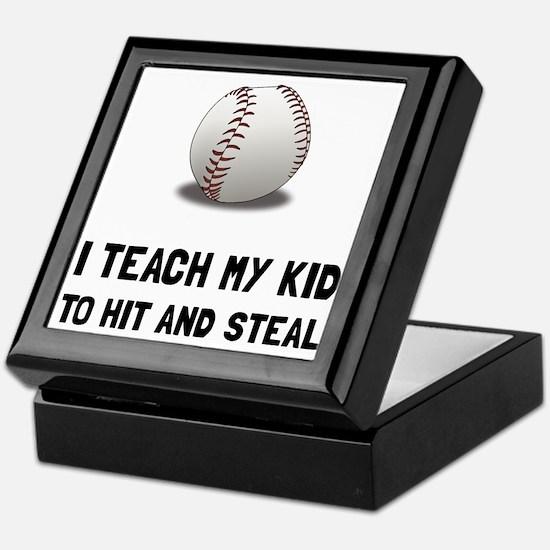 Hit And Steal Baseball Keepsake Box