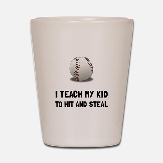 Hit And Steal Baseball Shot Glass