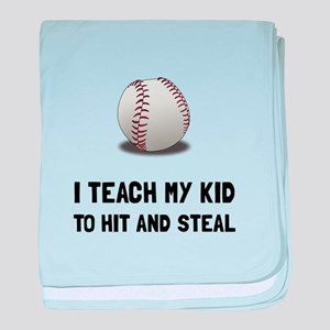 Hit And Steal Baseball baby blanket