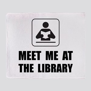 Meet Me At Library Throw Blanket