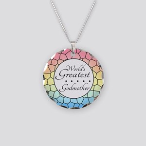 Godmother (Stained Glass) Necklace Circle Charm
