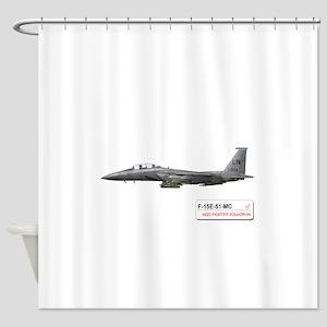 f-15_libya_down Shower Curtain