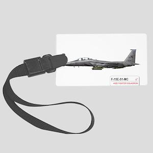 f-15_libya_down Large Luggage Tag