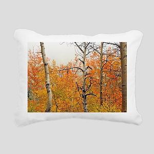 Misty Aspens Rectangular Canvas Pillow