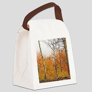 Misty Aspens Canvas Lunch Bag