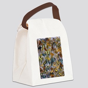 BUTTERFLY ILLUSION PANEL Canvas Lunch Bag