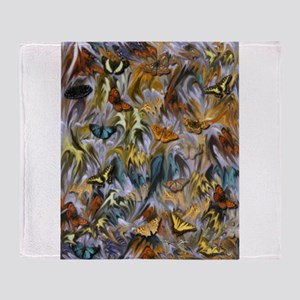 BUTTERFLY ILLUSION PANEL Throw Blanket