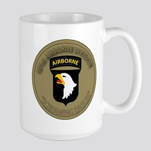 101st airborne screaming eagles Large Mug