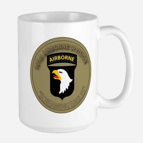 101st airborne screaming eagles Large Mug