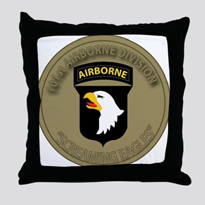 101st airborne screaming eagles Throw Pillow