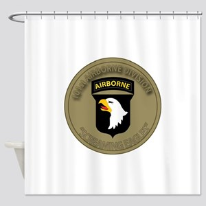 101st airborne screaming eagles Shower Curtain