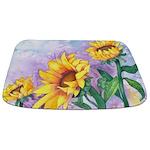 Sunny Sunflowers Bathmat