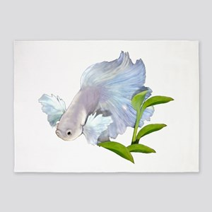 Dumbo Betta Snowy 5'x7'Area Rug