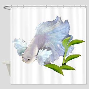 Dumbo Betta Snowy Shower Curtain
