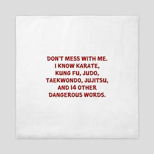 Dangerous Words Queen Duvet