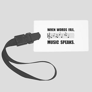 Words Fail Music Speaks Luggage Tag