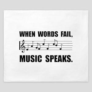 Words Fail Music Speaks King Duvet