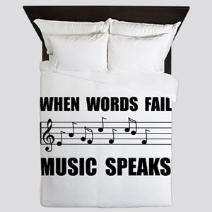 Words Fail Music Speaks Queen Duvet