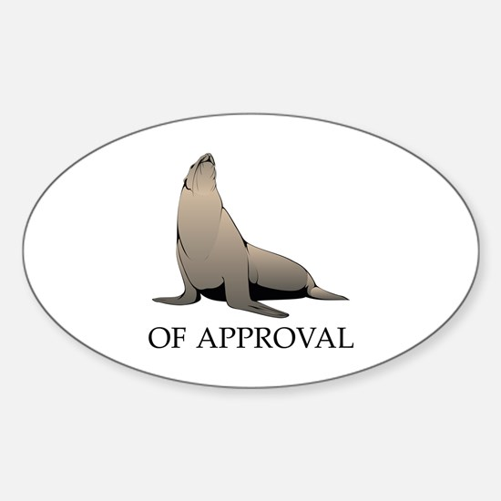 Seal Of Approval Sticker (Oval)