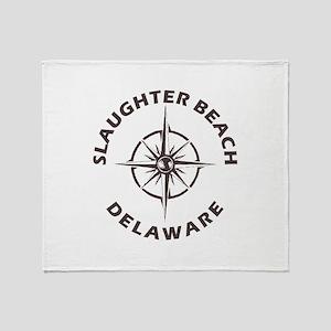 Delaware - Slaughter Beach Throw Blanket