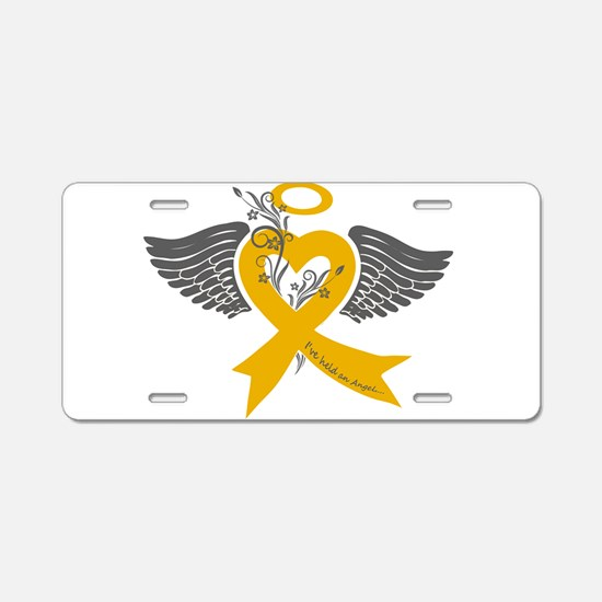 Cute Childhood cancer Aluminum License Plate
