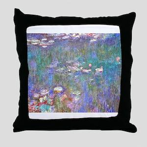 Monet:Water Lilies Throw Pillow