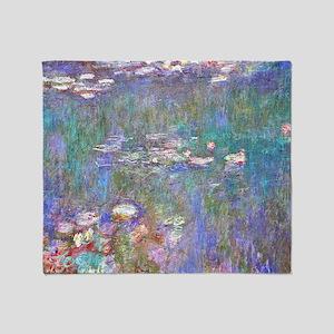 Monet:Water Lilies Throw Blanket
