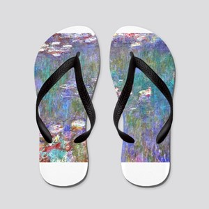 Monet:Water Lilies Flip Flops