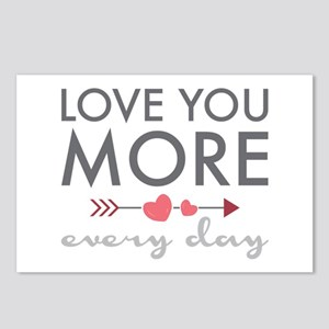 Love You Everyday Postcards (Package of 8)