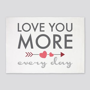 Love You Everyday 5'x7'Area Rug