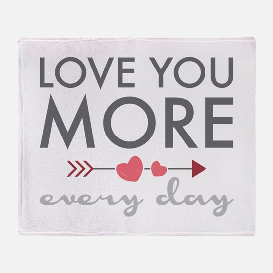 Love You Everyday Throw Blanket