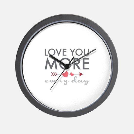 Love You Everyday Wall Clock