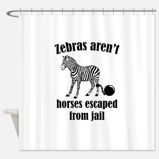 Zebras Aren't Horses Escaped From Jail Shower Curt