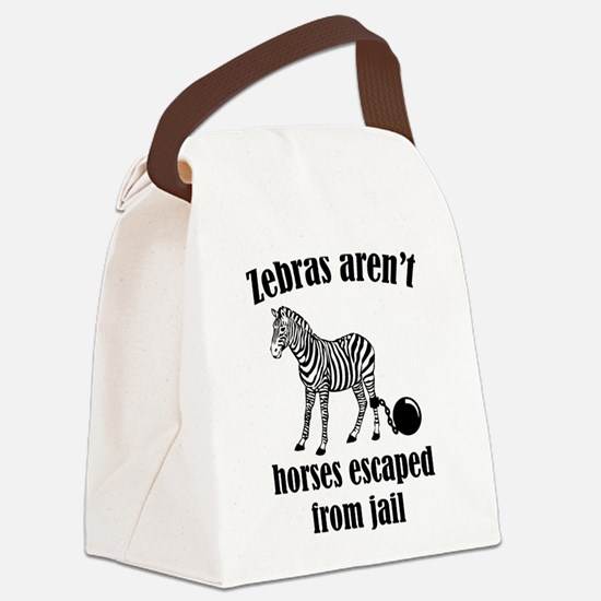 Zebras Aren't Horses Escaped From Jail Canvas Lunc