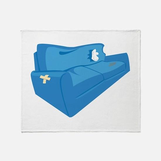 Old Sofa Throw Blanket
