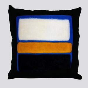 ROTHKO blue orange blank Throw Pillow