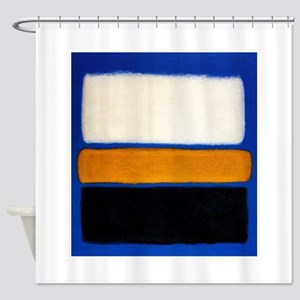 ROTHKO blue orange blank Shower Curtain