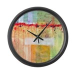 Colorfields Abstract Large Wall Clock