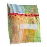 Colorfields Abstract Burlap Throw Pillow