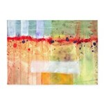 Colorfields Abstract 5'x7'Area Rug