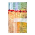 Colorfields Abstract 3'x5' Area Rug