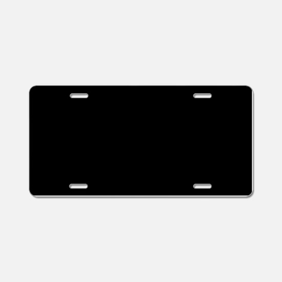 Solid Black Color Aluminum License Plate