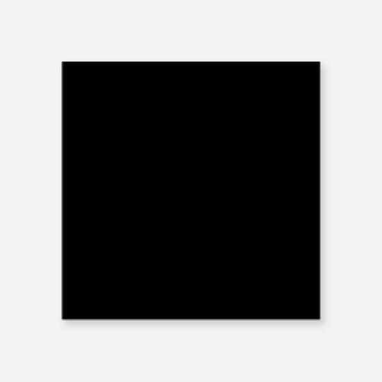 Solid Black Color Sticker