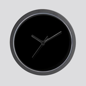 Solid Black Color Wall Clock