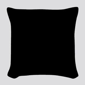 Solid Black Color Woven Throw Pillow