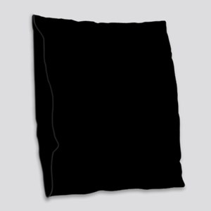 Solid Black Color Burlap Throw Pillow