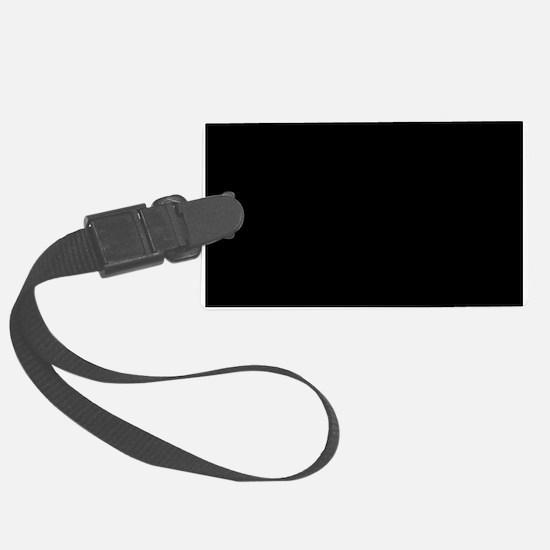 Solid Black Color Luggage Tag