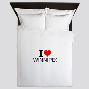 I Love Winnipeg Queen Duvet