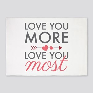 Love You Most 5'x7'Area Rug