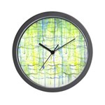 Electric Rain Abstract Wall Clock